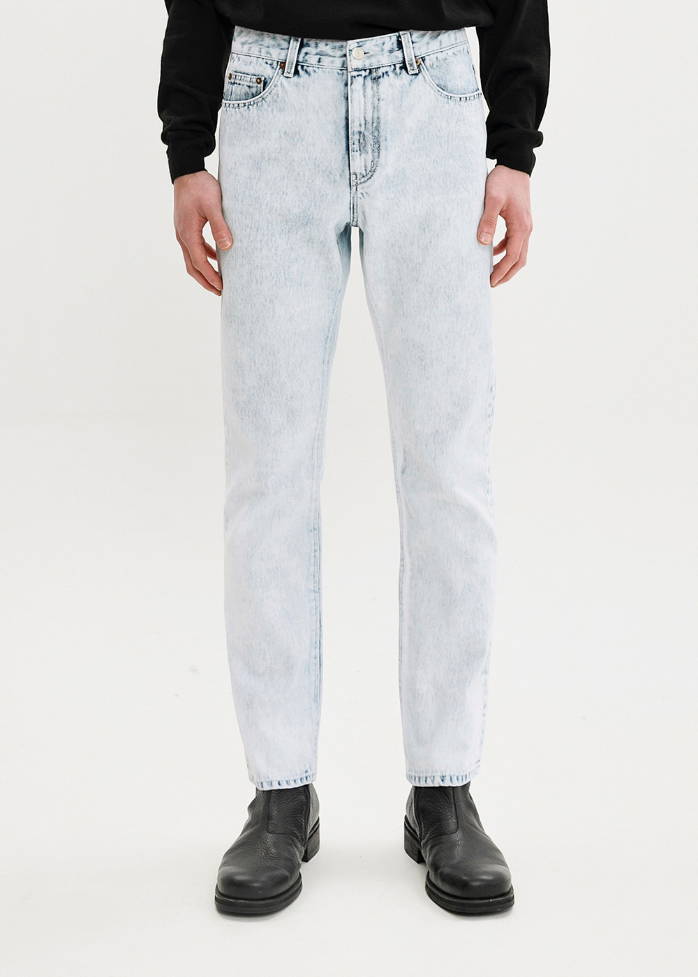 ICE WASHED JEANS JS [BLUE]