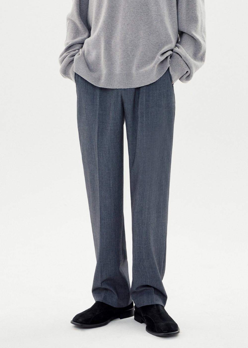 WIDE SLACKS [GRAY]