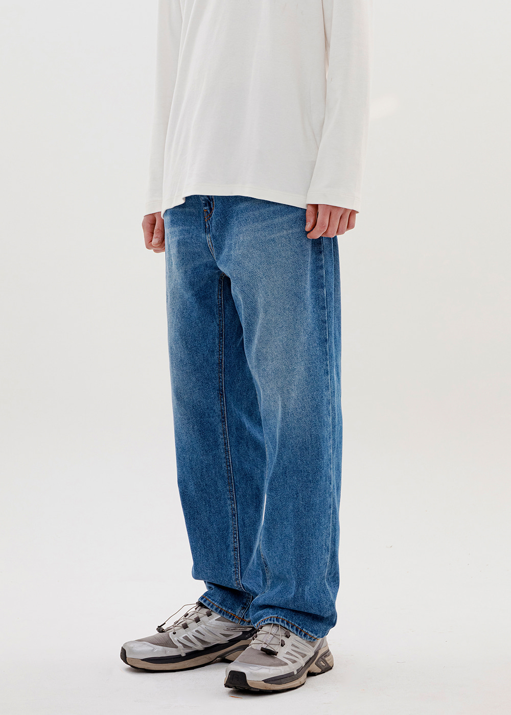 REGULAR JEANS IA [DEEP BLUE]