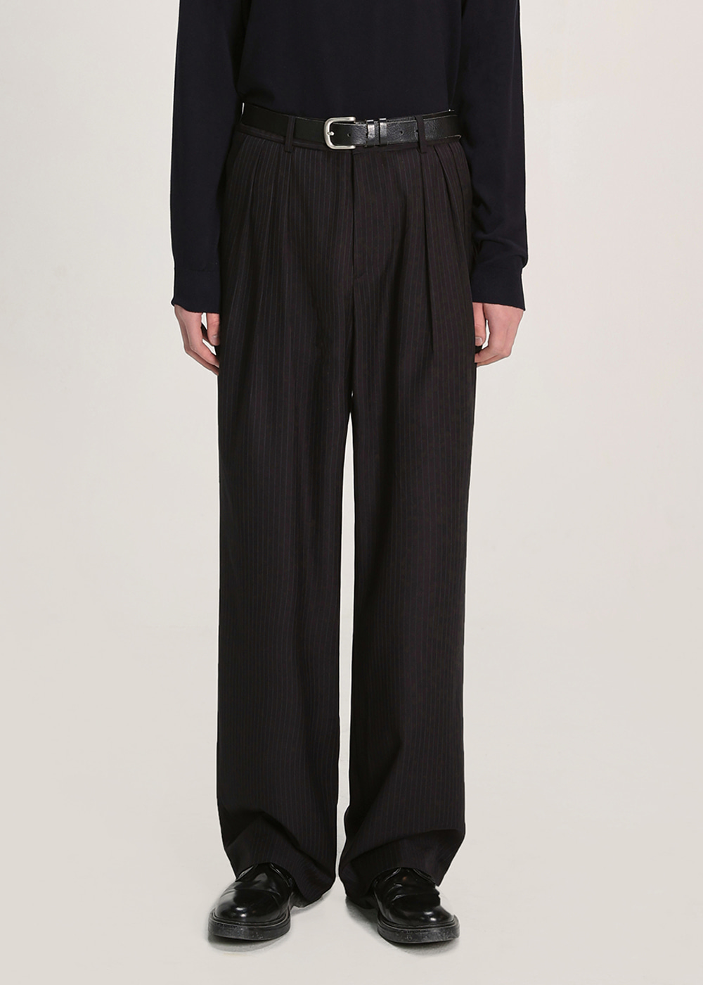 THREE TUCK BALLOON SLACKS JA [STRIPE]