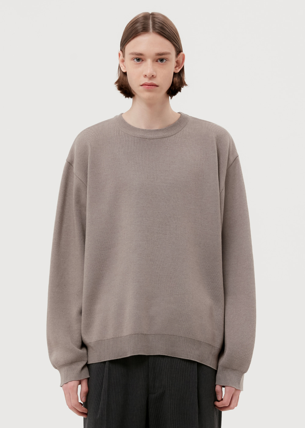 WOOL CREWNECK KNIT [BROWN]