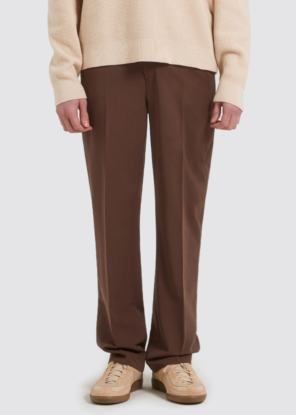 WIDE SLACKS [BROWN]