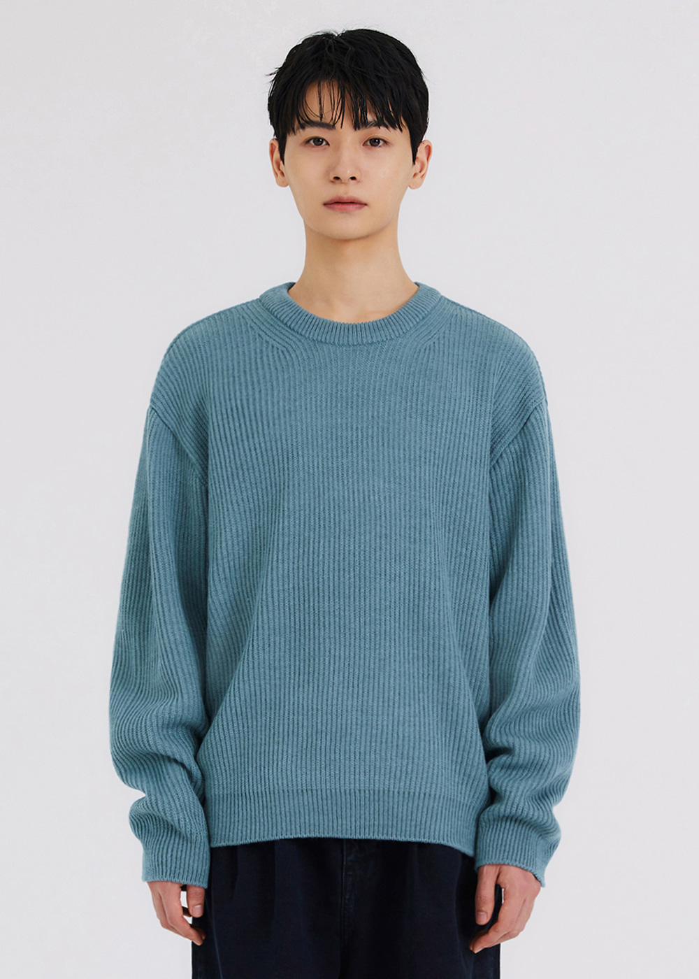 SOFT FISHERMAN KNIT [BLUE]