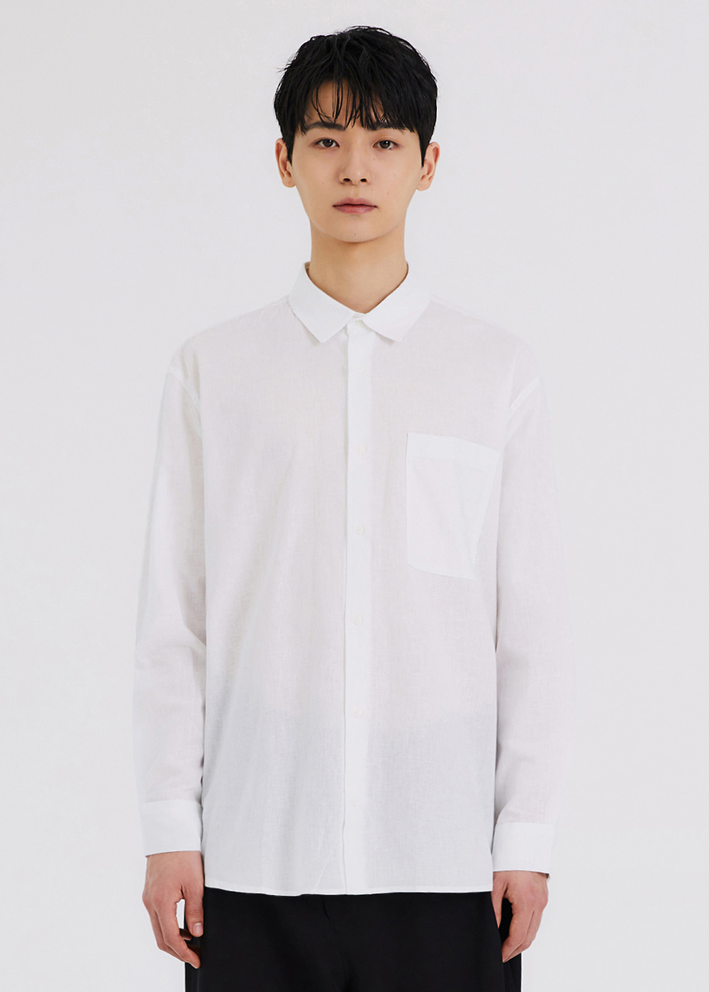 COOLING LINEN SHIRTS [WHITE]