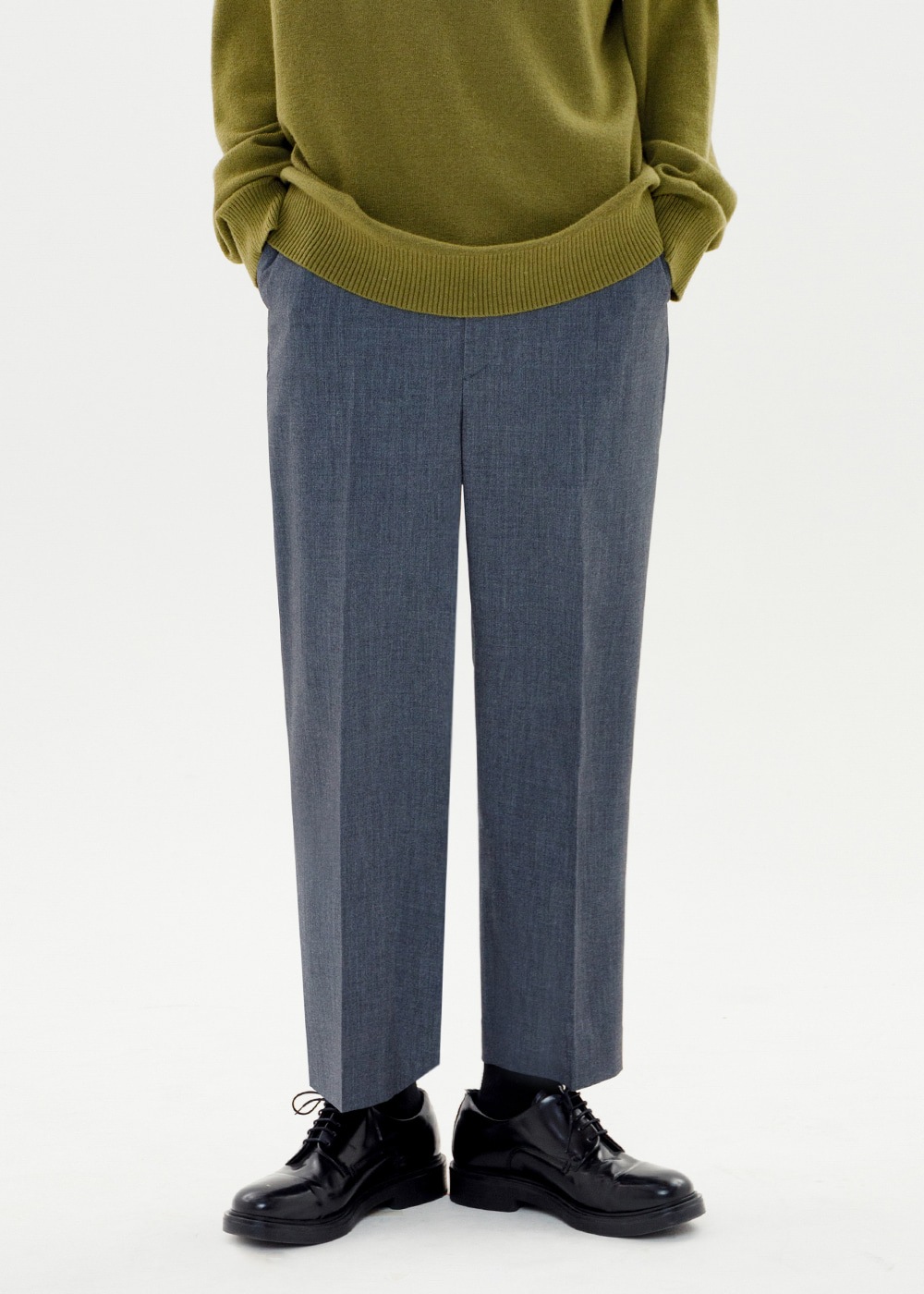 CROP WIDE SLACKS JS [GRAY]