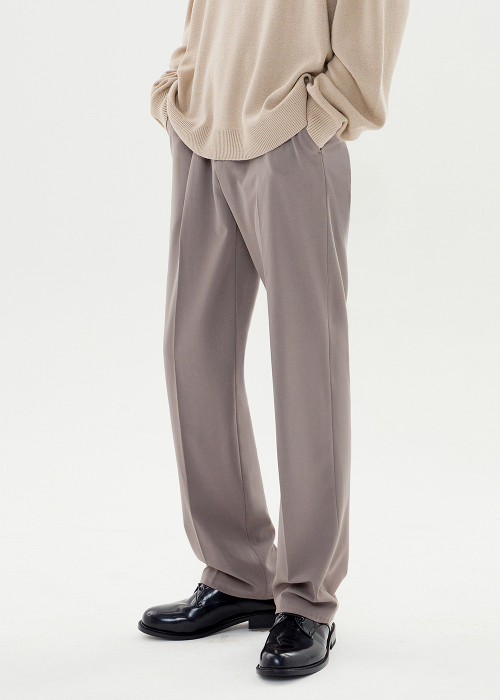 WIDE SLACKS JS [DARK TAN]