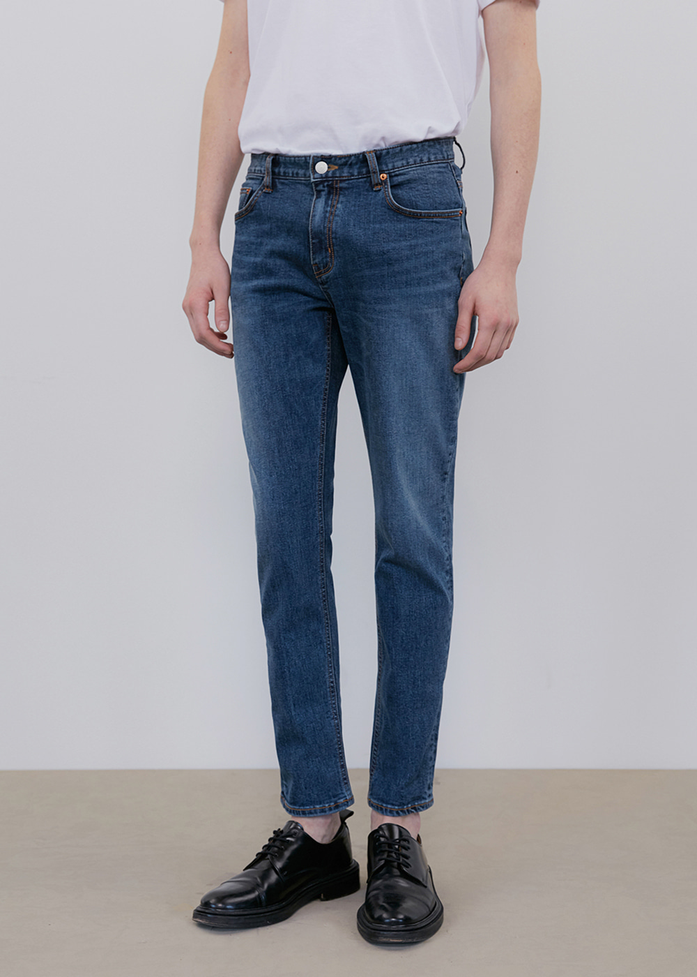 CROP JEANS IA [DEEP BLUE]