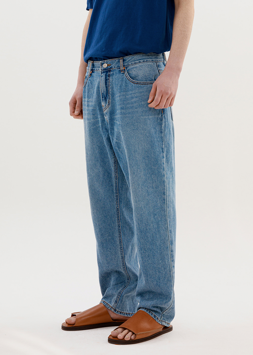 REGULAR JEANS IA [MID BLUE]